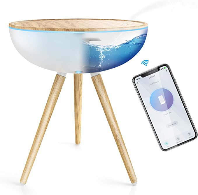 Amazon.com: Smart Essential Oil Diffuser 1000ML, Maxcio Wifi Aromatherapy Diffuser for Large Room APP & Voice Control Work with Alexa & Google Home 3 Mist Mode Timer Ultrasonic Humidifier for Home, Office & Bedroom: Kitchen & Dining