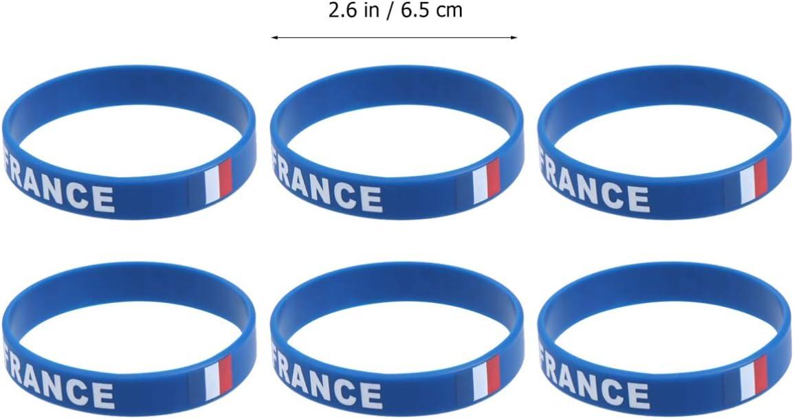 BESPORTBLE 10Pcs Silicone Italia Braccialetto da Polso Sport Braccialetto Bandiera Nazionale Paese per Evento Sportivo Favore del Partito Francia