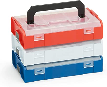 Bosch Sortimo L BOXX Mini - Caja de herramientas (3 unidades) Multicolor, en juego de tapa transparente, ideal caja de almacenaje, caja de clasificación, fiambrera para piezas pequeñas, alternativa: Amazon.es: Bricolaje y