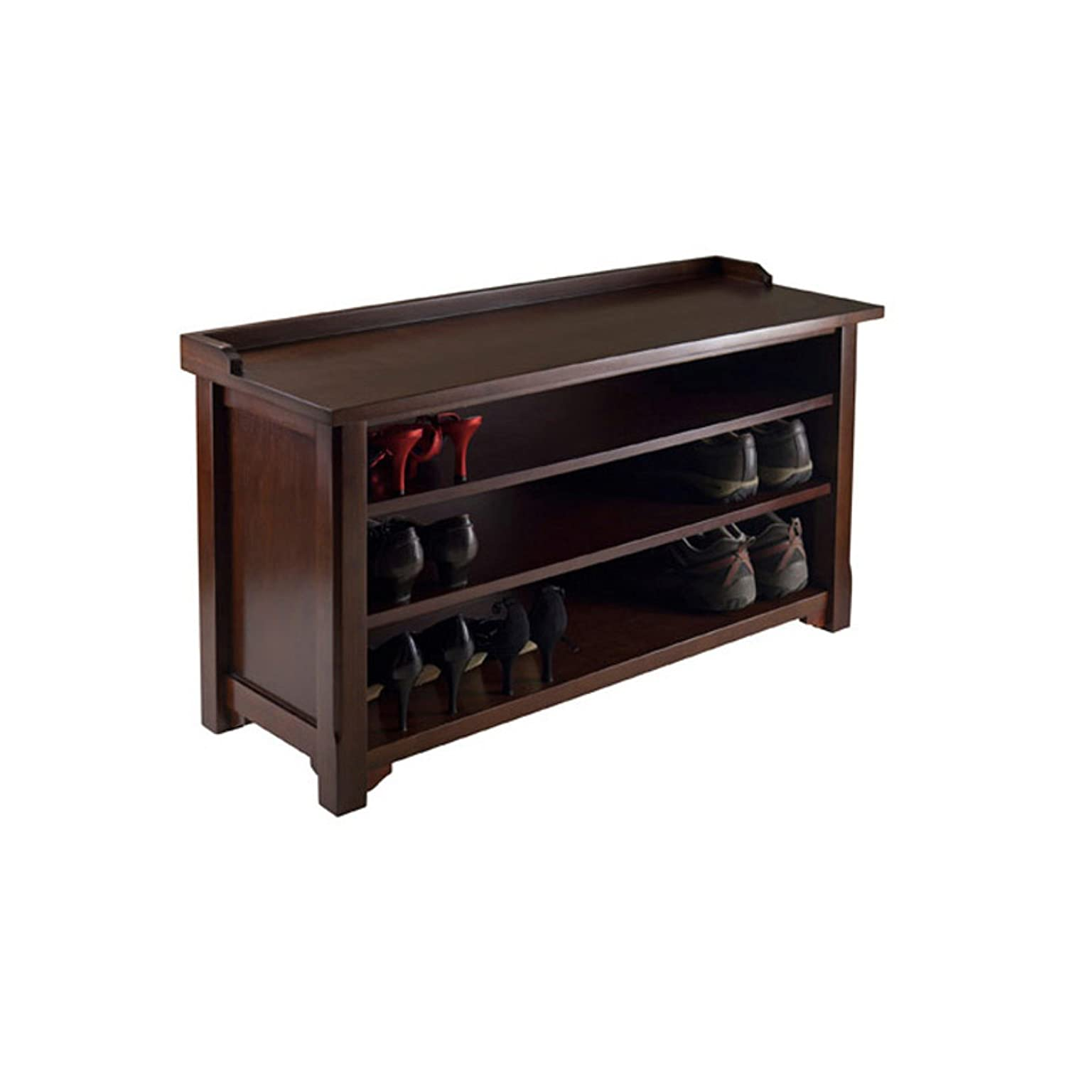 Amazon.com: Dayton Entryway Bench with Shoe Storage, Walnut + Expert Guide:  Kitchen & Dining