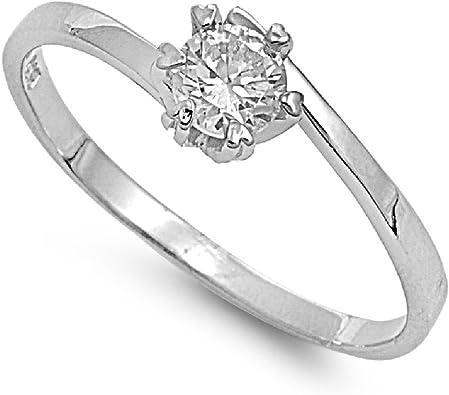 CloseoutWarehouse Circle Cubic Zirconia Wedding Engagement Fashion Ring Sterling Silver