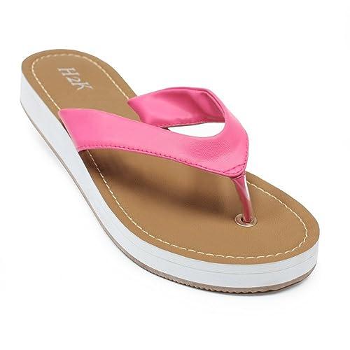 Summer Beach Shoes Platform Bath Sandals Flat Comfortable Wedge Flip Flops Slippers Women Elegant Comfort