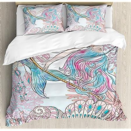 61kplFBe9RL._SS450_ Mermaid Bedding Sets and Mermaid Comforter Sets