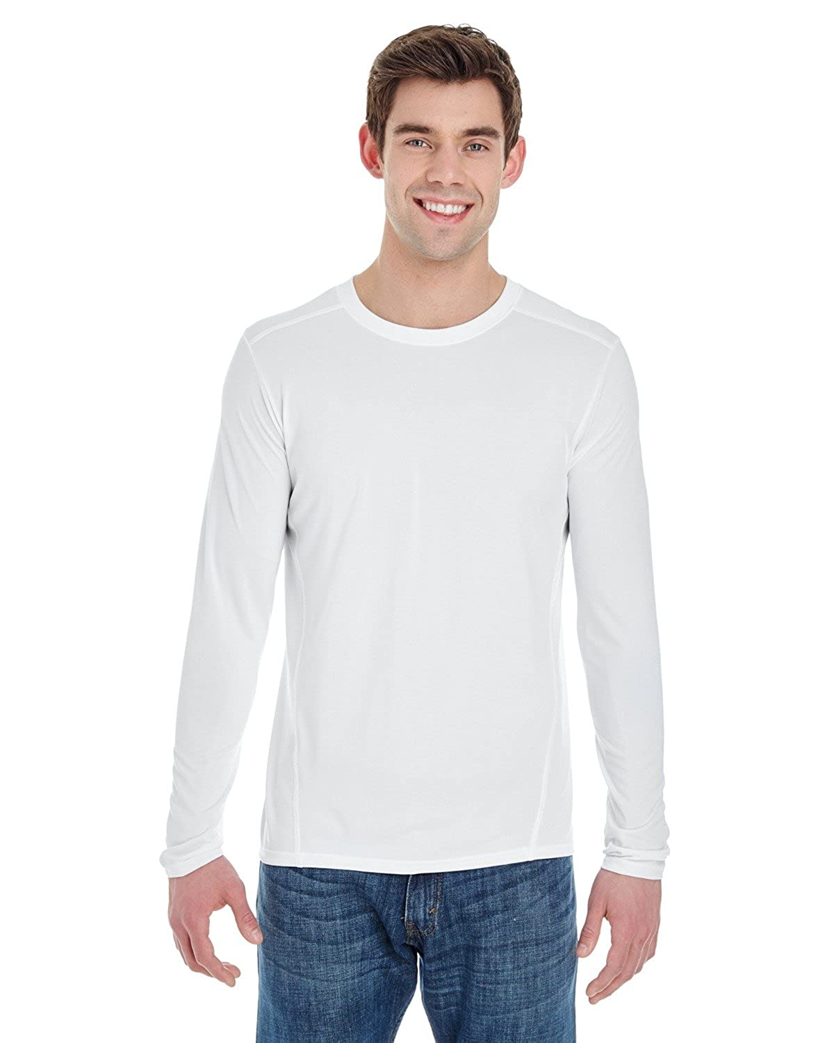 Product of Brand Gildan Adult Performance 47 oz Long-Sleeve Tech T-Shirt Instant Savings of 5/% /& More XS - White