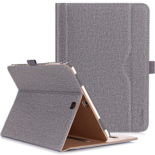 ProCase Galaxy Tab S2 9.7 Case, Stand Folio Cover Case for Galaxy Tab S2 Tablet (9.7 Inch, SM-T810 T815 T813) - Grey