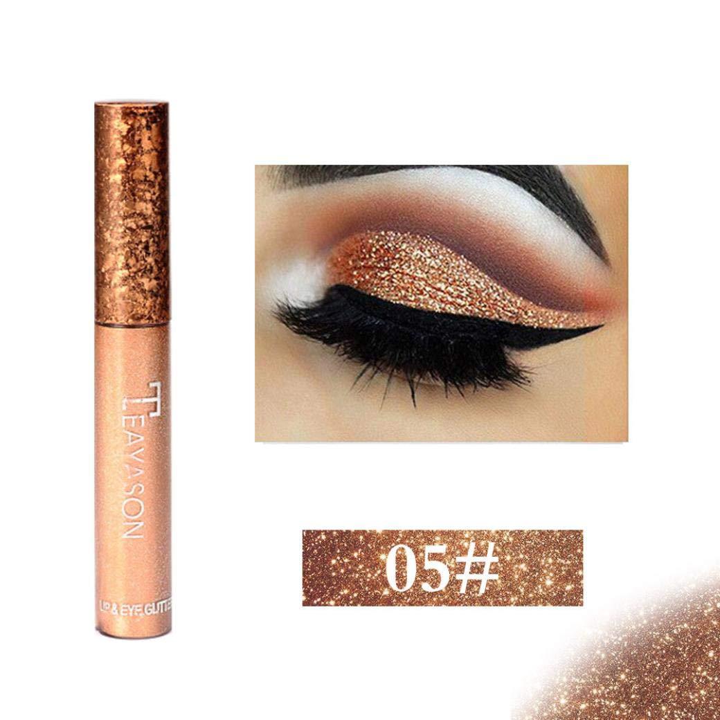 CYCTECH Metallic Glitter Liquid Eyeshadow, 12 Colors High Pearl Shimmer Waterproof Long Lasting Eye Shadow (E)