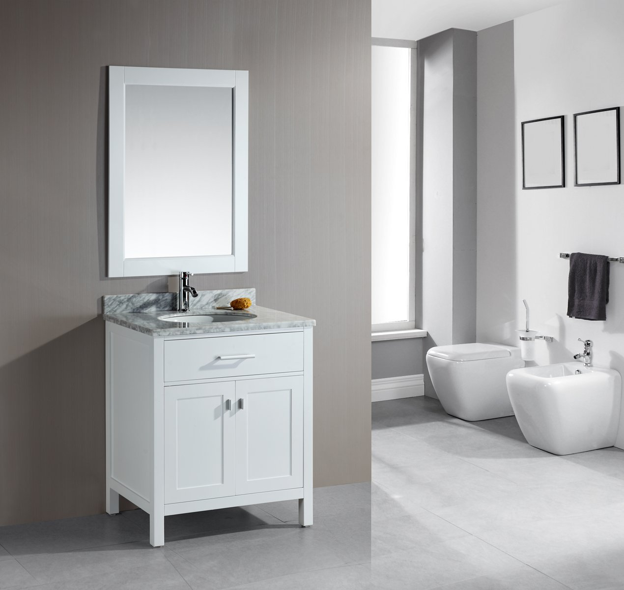 white sink delightful single bathroom vanity