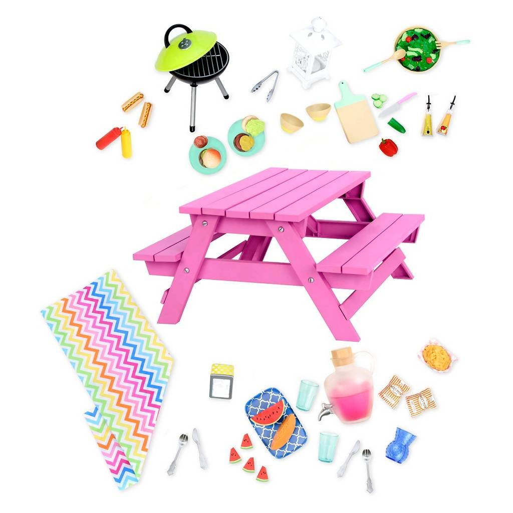 Our Generation 44594 Picnic Table Set for Dolls   B01H0QSLL6