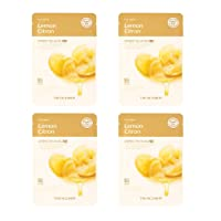 The Face Shop Real Nature Face Mask, Lemon, 20g (Pack of 4)