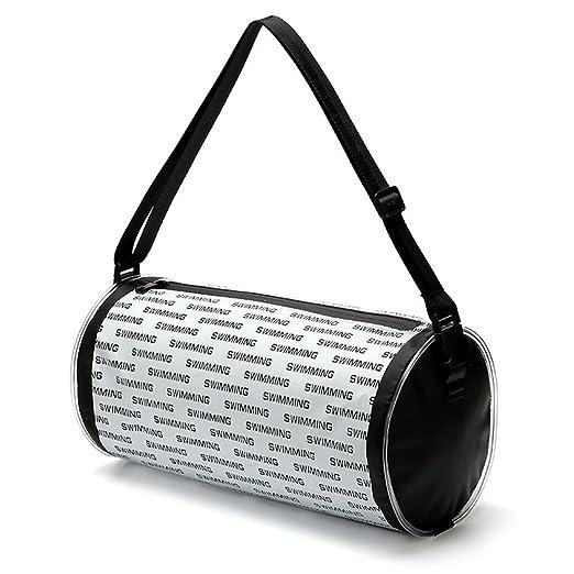 DCRYWRX Barrel Travel Sports Bag Bolsa De Playa A Prueba De Agua Bolsa De Almacenamiento Mojado Y Seco Bolsa De Almacenamiento De Separación,Black: ...