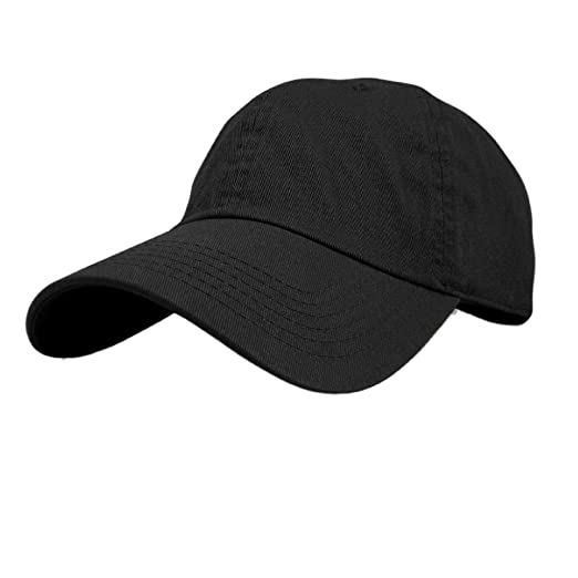 ff09491b3bd Image Unavailable. Image not available for. Color  New Plain Solid Washed  Cotton Polo Style Baseball Ball Cap Caps Hat Adjustable
