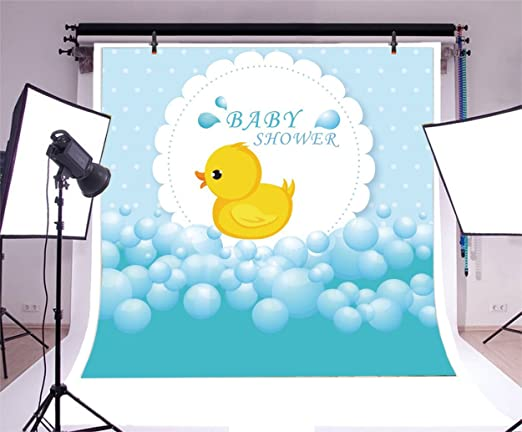Kate 8/×8ft Yellow Rubber Duck Kids Backdrop Baby Shower Photo Backdrops Chilren Photo Studios Prop for Newborn Chilren Birthday Photography Party Decoration Blue