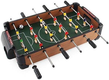 JBHURF Mini futbolín, máquina futbolín, futbolín, 51 cm de 6 Polos Mesa de futbolín, Mini máquina de fútbol viruta de Madera, tamaño del Producto: 51X40X9cm: Amazon ...