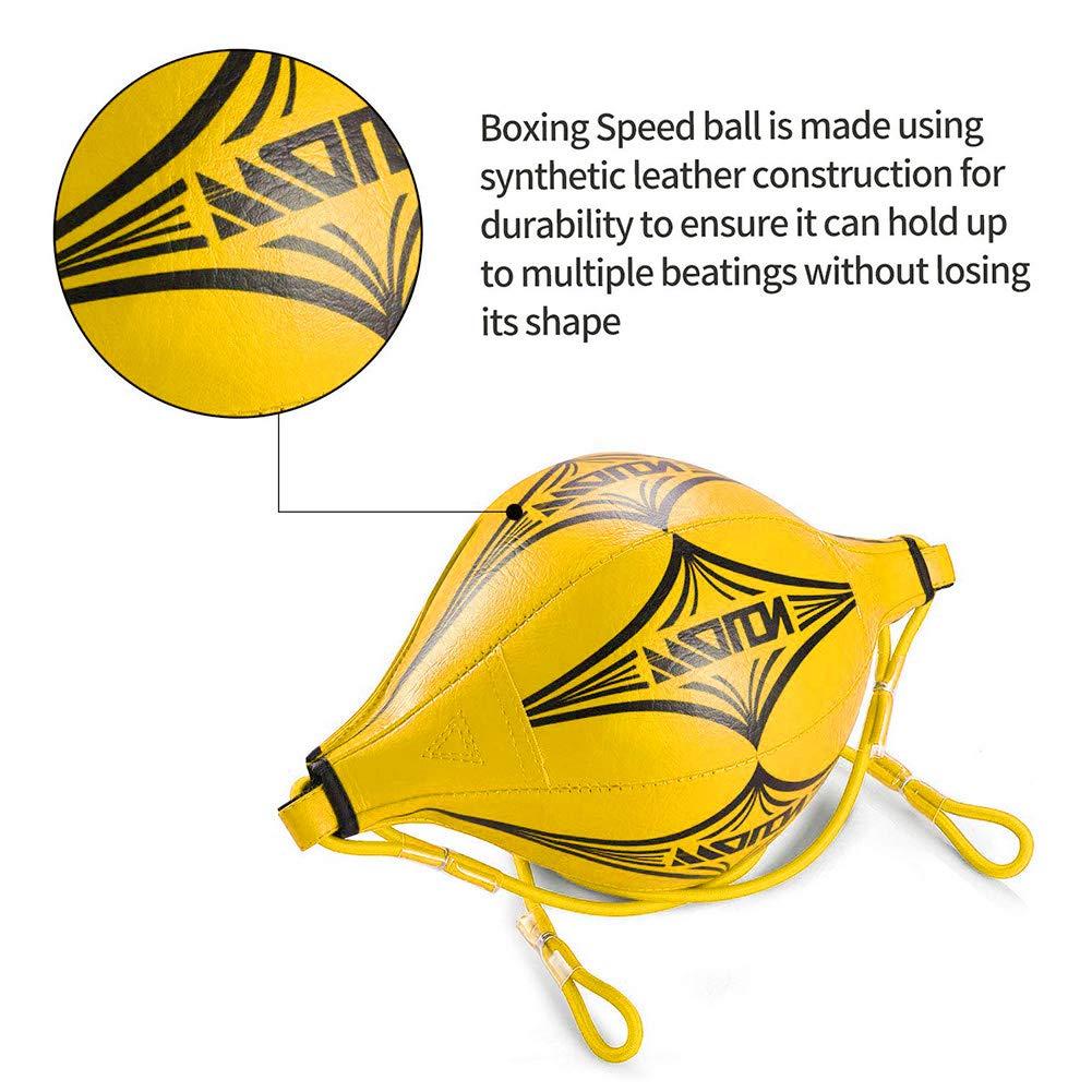 Bola de Velocidad de Boxeo con inflador Gancho de Calabaza Bola de Boxeo de Doble Extremo de Pera para Boxeo Muay Thai Saco de Arena Dodge Saco de Arena