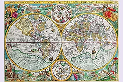 Amazon buyenlarge world map paper poster 20 by 30 inch buyenlarge world map paper poster gumiabroncs Gallery