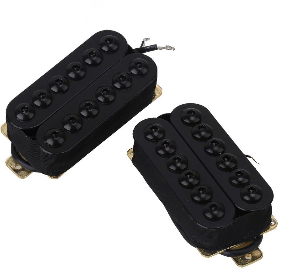 yibuy Modelo hoc-BK-TMB Negro Metal Doble Bobina Guitarra Pastillas Humbucker para Guitarra eléctrica
