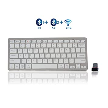 d179f5f7478 Bluetooth Keyboard,bluebyte Multi-device Bluetooth 4.0 LE And 2.4G All-in