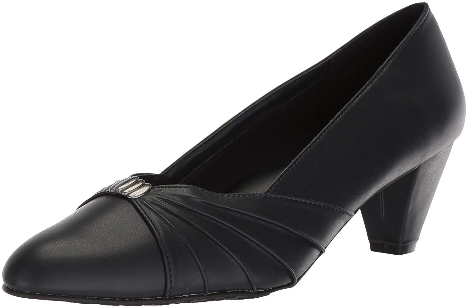 Soft Style by Hush Puppies Women's Dee Pump, Navy Kid, 08.0 M US