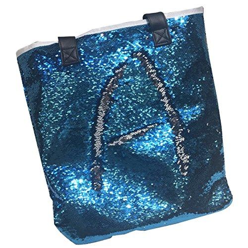 Donna Zip Tracolla Blu A Luoem Per Con Mano Glitter Signore Paillettes Colori Borsa Argento Colorati Lucida Ragazze E lago 4gBBySzq