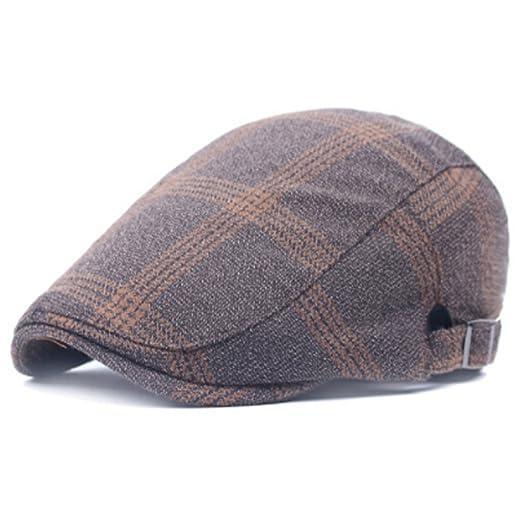 NUBAO Sombrero De Paño Escocés De La Tela Escocesa hacia Adelante ...