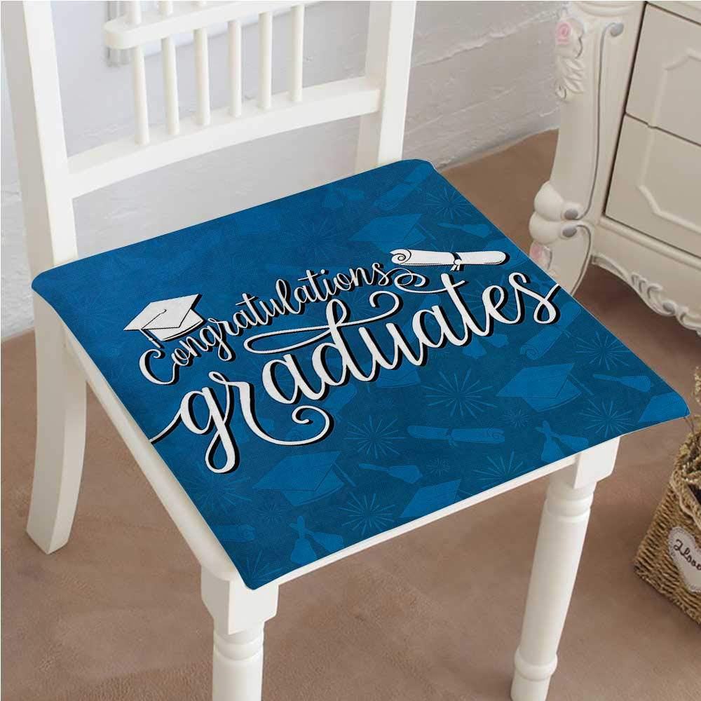 Mikihome Classic Decorative Chair pad Seat College Celebration Ceremony Certificate Diploma Square Cushion with Memory Filling 26''x26''x2pcs