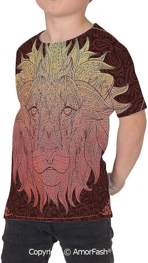 Safari Decor Childrens Classic Basic Printed Ultra Comfortable T-Shirt,Pattern