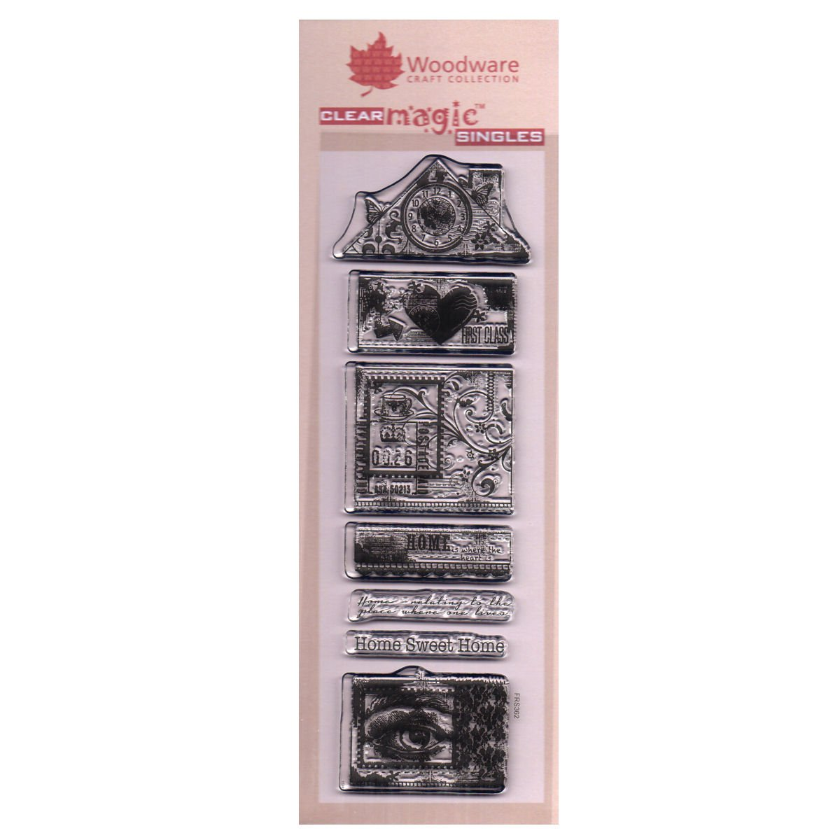 Woodware 3 x 8 Clear Cling Stamps - FRS362 Build A Home by WoodWare