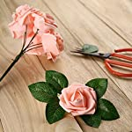Febou-Artificial-Flowers-100pcs-Real-Touch-Artificial-Foam-Roses-Decoration-DIY-for-Wedding-Bridesmaid-Bridal-Bouquets-Centerpieces-Party-Decoration-Home-Display-Concise-Type-Pink