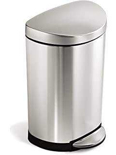 simplehuman semiround step trash can stainless steel 10 l 26 gal
