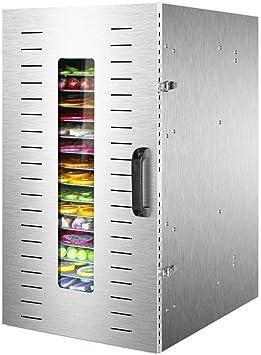 Opinión sobre L.TSA Deshidratador de Alimentos Deshidratador de Alimentos 20Tier - Secador de Alimentos Grande de Acero Inoxidable con Control de Temperatura Ajustable 1500w