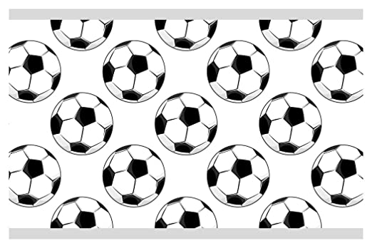 I-love-Wandtattoo Cenefa Autoadhesivo para niños balones de fútbol ...