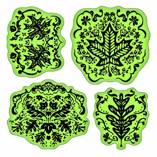 Inkadinkado 65-32074 Stamping Gear Cling Stamps, Maple Leaf