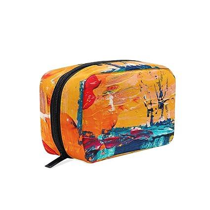 Mnsruu - Bolsa de viaje para cosméticos y cosméticos, bolsa ...