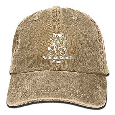 HNE&NQA Baseball Jeans Cap Proud National Guard Mom Unisex Snapback Caps Washed Denim Cap