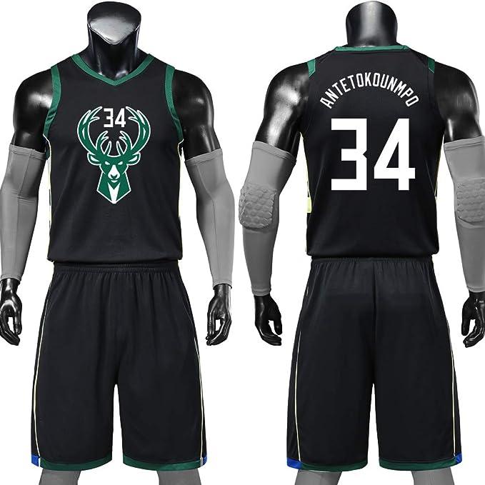 Milwaukee Bucks 34 Camisetas De Baloncesto,Giannis ...