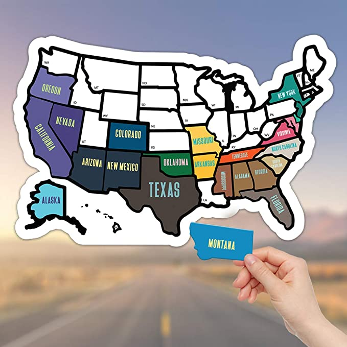 3a03677847202 Amazon.com  RV State Sticker Travel Map - 11