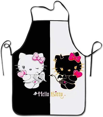 Yzmzd Tablier De Cuisine Motif Ange Diable Hello Kitty Amazon Fr
