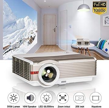 WIKISH Proyector de video LED 1080p, LCD Proyectores de cine para ...