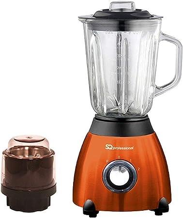 Opinión sobre ASAB 500 W Cocina Alimentos Procesador 1,5 L Jarra de Vidrio de 6 Cuchillas Molinillo, Batidos de Fruta, Doble Velocidad y Ajuste de Pulso, Color Naranja, Estándar