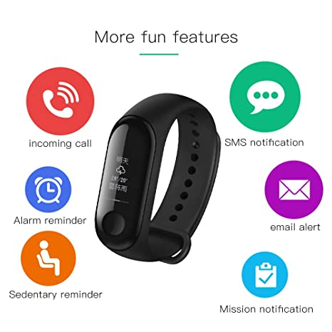 Amazon com : Xiaomi Mi Band 3 Fitness Tracker 0 78 OLED