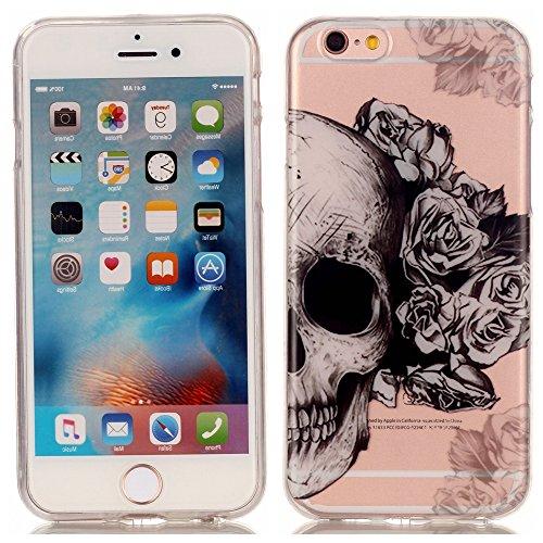 iPhone 6 Plus / 6S Plus Cover , YIGA Fiore Cranio Silicone Cristallo Morbido TPU Case Custodia per Apple iPhone 6 Plus / 6S Plus 5.5