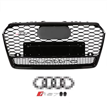 Underground Parts F-FC-38RD Black/&Red Sport Honeycomb Mesh Front Bumper Centre Grille Panel