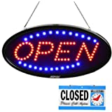 LED Open Sign, AGPtek 19x10inch LED Business Open Sign Advertisement Board Electric Display Sign, Two Modes Flashing & Steady