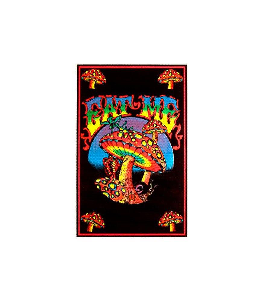 Amazon.com: NEW BLACK-LIGHT POSTER - Eat Me Mushroom Flocked 23x35 Blacklight Poster Print, 23x35: Posters & Prints