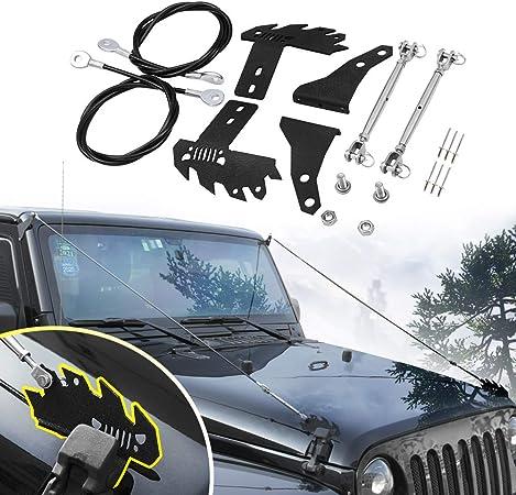 the Jungle Protector Obstacle Eliminate Rope Adjustable Limb Riser Kit for 2018 Jeep Wrangler JL JLU