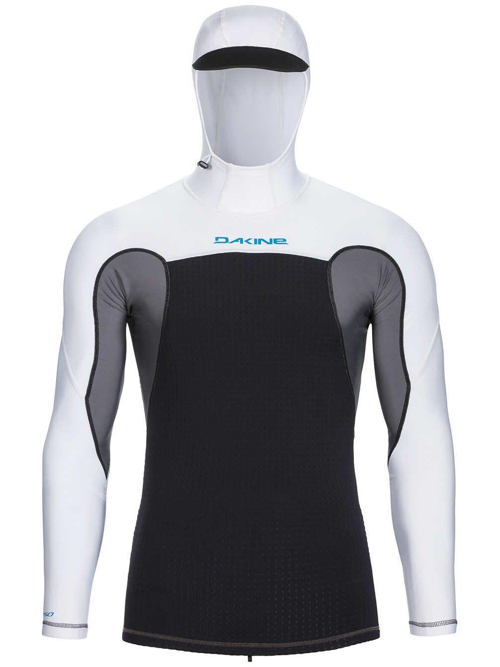 New Dakine Surf Men's Storm Snug Fit Ls Hooded Rashguard Neoprene White