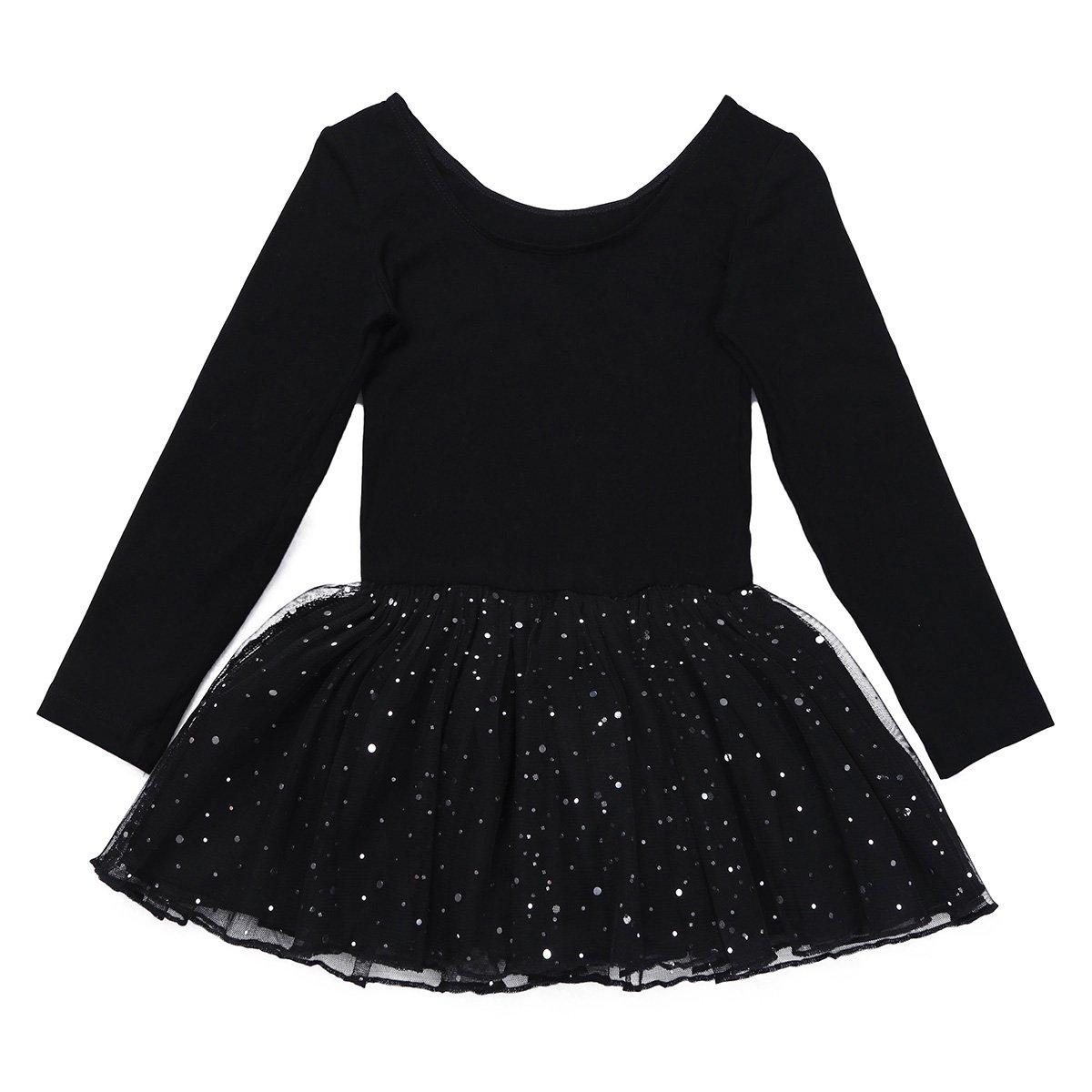 d25b3539fb0e Amazon.com  CHICTRY Girls Kids Classic Long Sleeve Party Leotard ...