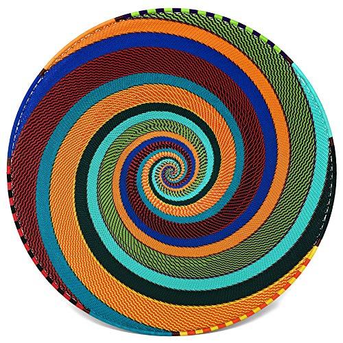 Bridge for Africa Fair Trade Zulu Telephone Wire 16-inch Platter Basket, African Spirit