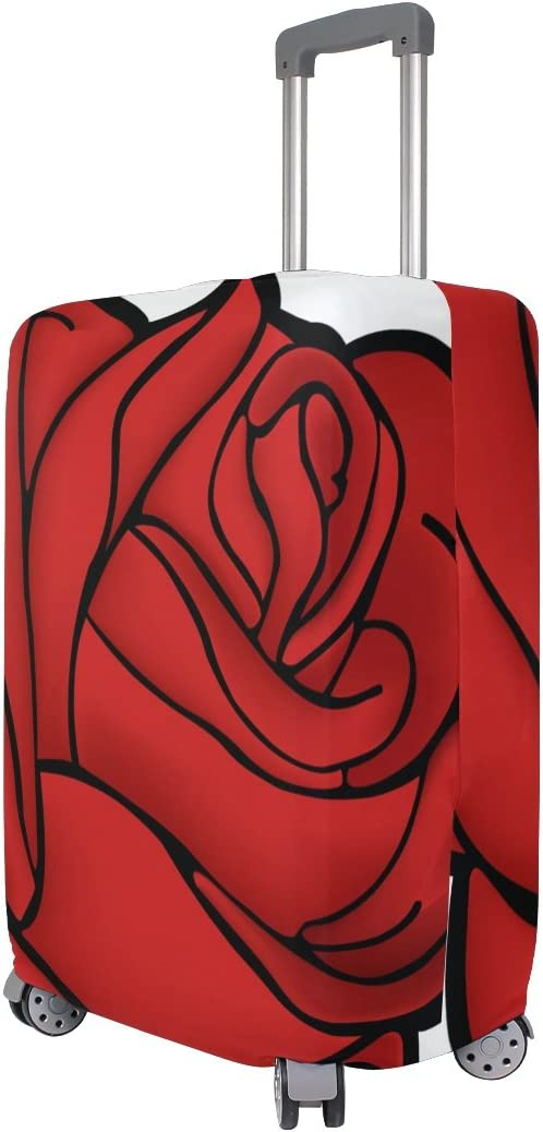 LEISISI Rose Luggage Cover Elastic Protector Fits XL 29-32 in Suitcase