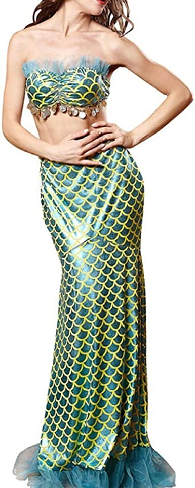 LSXZZY Lencería para Mujer Sirena de Halloween Disfraz de Cosplay ...